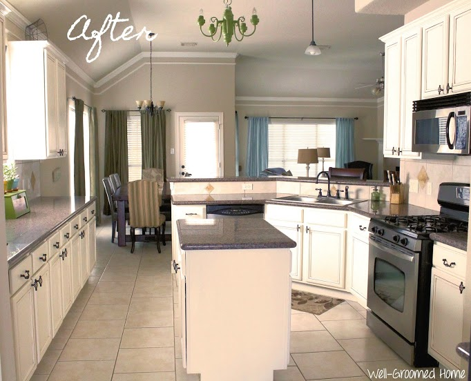 kitchen cabinets painted white before and afterPainted Kitchen Cabinets  Chalk Paint  WellGroomed Home