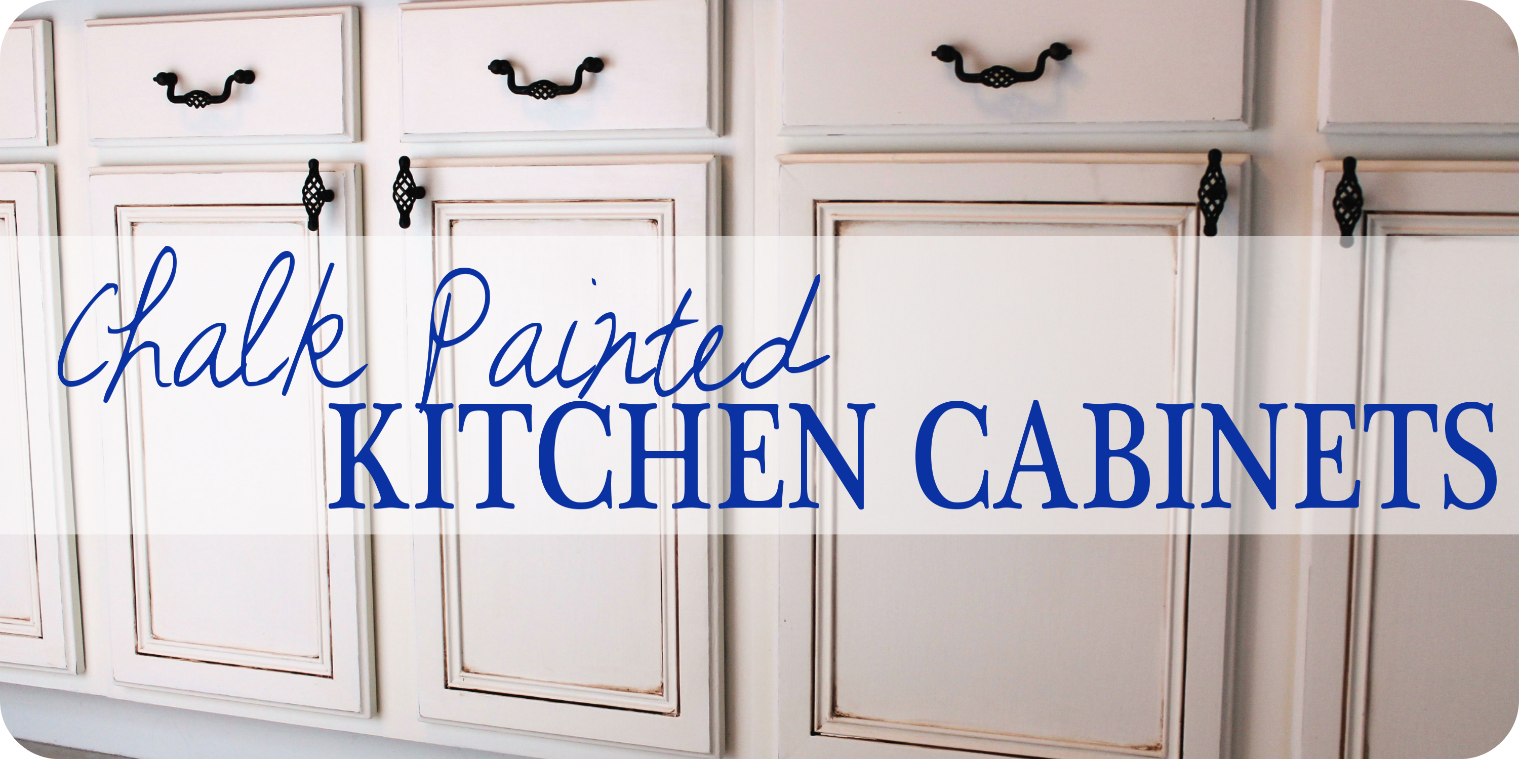 painted kitchen cabinets - chalk paint! - well-groomed home