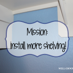 Modifying the Laundry Room Shelves