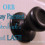 Updating Door Knobs with Spray Paint
