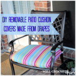 Patio Cushion Covers Made from Drapes