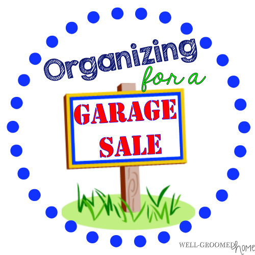 organizing for garage sale