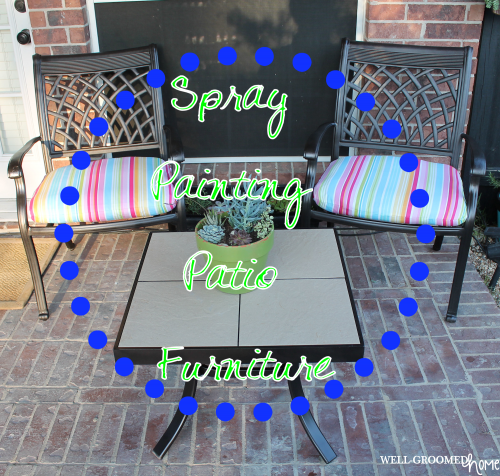 painting patio furniture