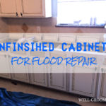 Using Unfinished Cabinets for Flood Repair